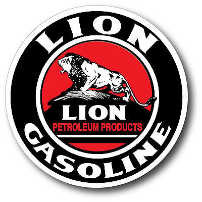Lion Gasoline Gas Oil Super High Gloss Outdoor 4 Inch Decal Sticker Petrol