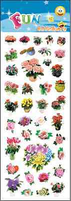 """Fantastic Fun Stickers """" Flowers In Pots """" For Cards & Craft"""