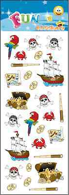 """Fantastic Fun Stickers """" Pirates """" For Cards & Craft"""