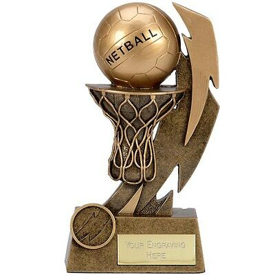 Netball Shooter Ball Attack Defence Trophy 3 Sizes Available Engraved Free