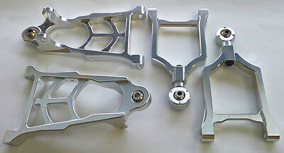 Rovan Baja Buggy Front Suspension Set Alloy Silver Lower & Upper Arms fit 5B SC