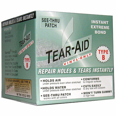 Tear-Aid Type B Vinyl PVC Repair - Inflatable, Orb Ball Boat Jumping Castle Tube