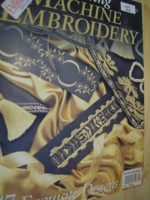 Stunning Machine Embroidery Australian Magazine #24 -17 Designs