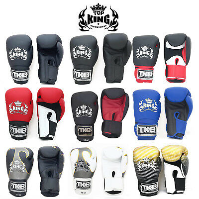 Top King Gloves Muay Thai Kick Boxing K1 TKBGSA TKBGUV TKBGSV 8 10 12 14 16 18oz