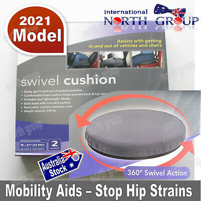 New Mobility Aid Large Padded 360 deg Swivel Cushion Seat for Car, Stool, Chair