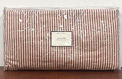Pottery Barn Ticking Stripe Collins Daybed & Trundle Slipcover 2 Piece Red NIP