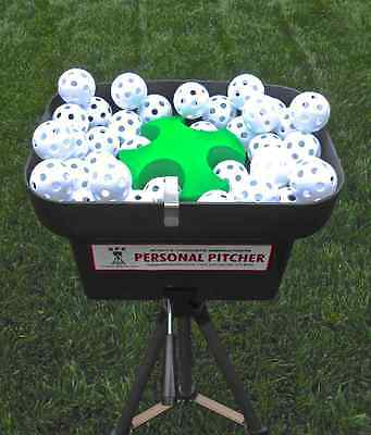 Hit on a Personal Pitcher Pitching Machine with tripod and 48 balls.