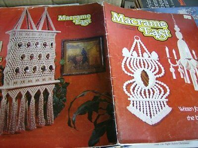 Macrame East Book Patterns for Wall Hangings, Chandeliers, Wine Rack +More
