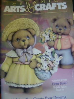 Ceramic Arts & Crafts Magazine March 1996 Polychrome Plate, Easter Bears