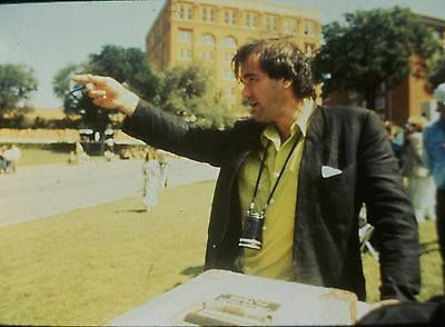 "OLIVER STONE in the Set of ""JFK"" - Original 35mm COLOR Slide - 1991"