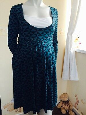 (M04) maternity nursing dress aztec jersey size 8/10 & 14/16