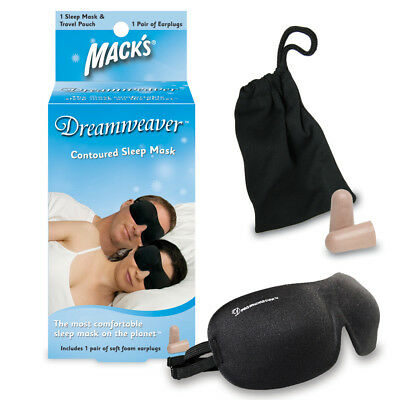 Mack's Dreamweaver Sleep Mask (New Design) FREE Earplugs!