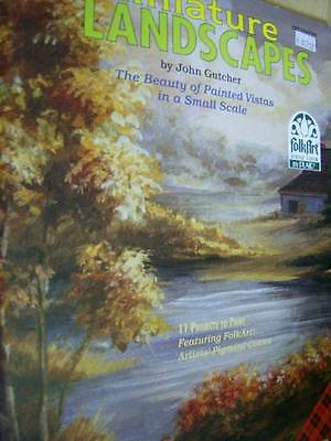 Miniature Landscapes Painting Book Oriental Garden, Old Wagon Wheel, Lighthouses