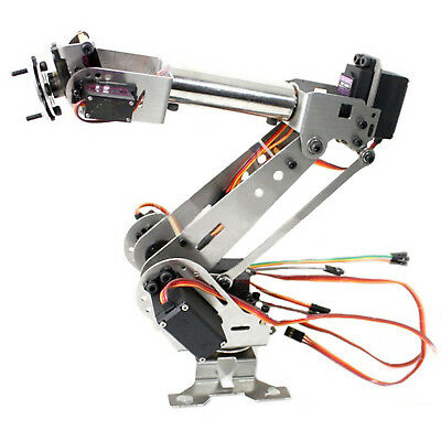 Fully Assembled 6-Axis Mechanical Robotic Arm Clamp for Arduino Raspberry mor