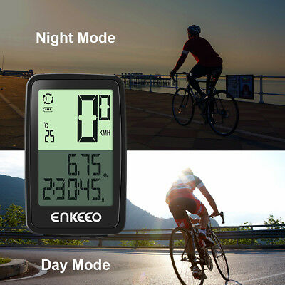 Wireless Cycling Bike Bicycle Computer Speedometer Odometer Cadence Sensor Black