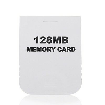 New 128MB Memory Card White for Nintendo Wii Gamecube NGC Console Hot
