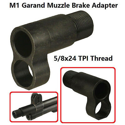 Field Sport M1 Garand  Muzzle Brake Adapter 5/8x24 Thread, All Steel Heavy Duty