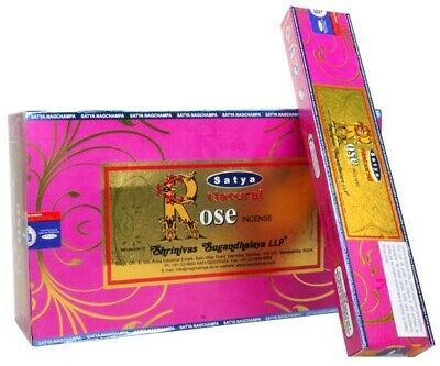 Satya Natural Series - Rose - NAG CHAMPA INCENSE - SATYA STICKS - 180 GRAMS
