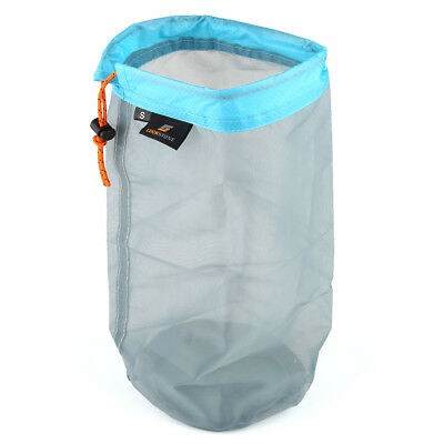 Ultralight Drawstring Mesh Stuff Sack Storage Bag for Travelling Camping S/M/L