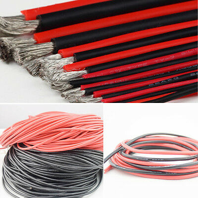 12 14 18 20 AWG 20m Gauge Silicone Wire Flexible Stranded Copper #F Cable For RC