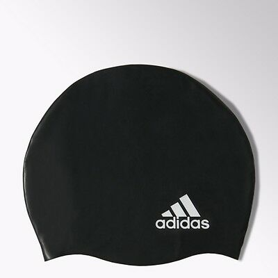 New Adidas Silicone Anti Tear Adult Swimming Cap Colours Black,coral Pink
