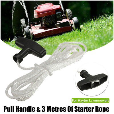 Starter Pull Handle and 3m x 4mm Cord Rope For Lawnmowers Mower Petrol Engine