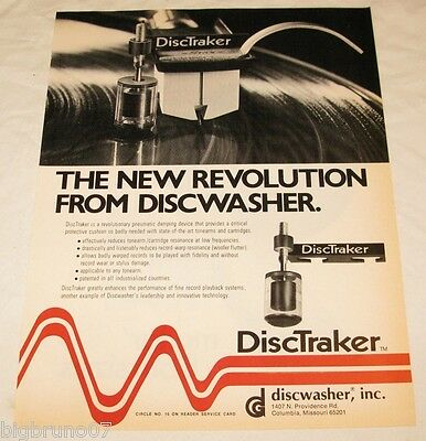 Vintage Discwasher DiscTraker PRINT AD from 1977