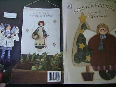 Forever Friends Especially At Christmas Painting Book Folk Style Angels, Teddy B