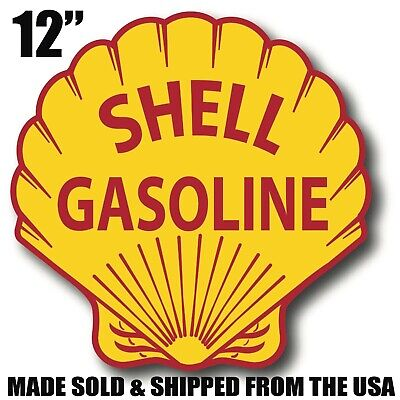 Shell oil gas gasoline super high gloss outdoor 12 inch decal sticker