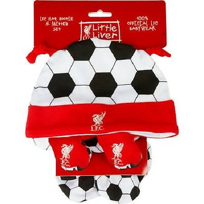 Liverpool F.C Baby Hat Mitts Bootees Gift Set Authentic Merchandise 9-12 Months