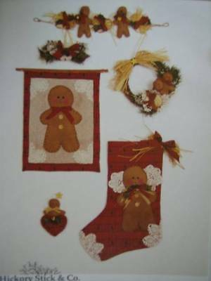 Hickory Stick H-208 Gingerbread Menagerie Quilting Pattern Stocking Wall Hanging