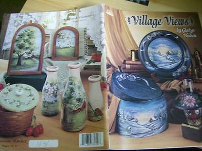Village Views Painting Book #1 Winter Scenery, Camping, Fishing, Maple Leaf View