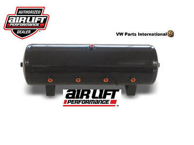 Air Lift Performance 8.5 Gallon Gloss Black Powder Coated Air Tank 8 Port 32.5''