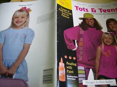 Tots & Teens Liquid Beads Iron-On Patterns Book Butterflies, Fish, Sailboats