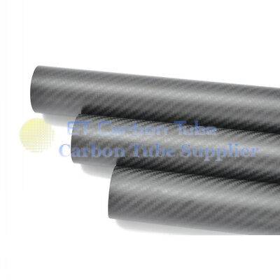 1 x OD 50mm x ID 44mm x Length 1000mm Carbon Fiber Tube (Roll Wrapped) 50*44