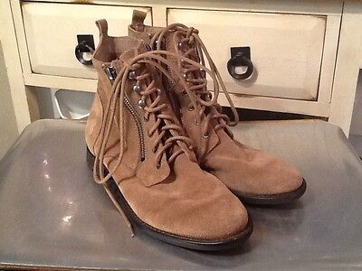 cf6d79ad7c6c6 SAM EDELMAN NEW York Brown Suede Double Front Zipper Ankle Boots SZ ...
