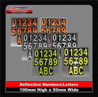 House/Letter Box Numbers Reflective Stickers 3M Class 1