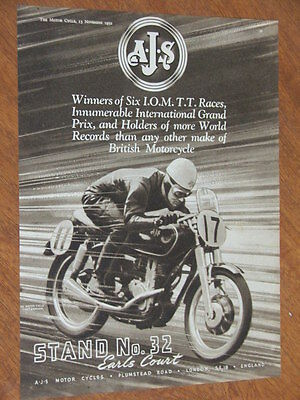 1952 Excelsior & AJS Motorcycles original UK full page advertisement