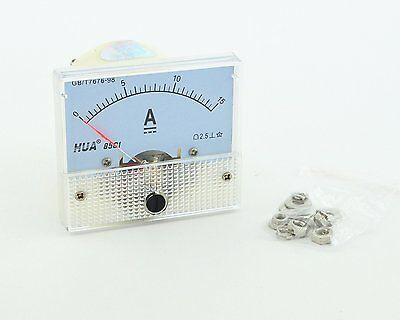 DC Analog Meter Panel 15A AMP Current Ammeters 85C1 0-15A Gauge