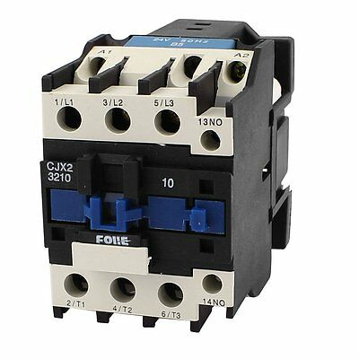 CJX2-3210 32A 3-Phase 1NO Normal Open 220V AC Contactor Starter Relay