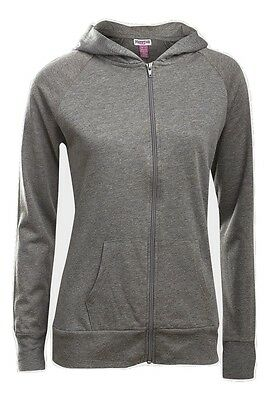 'Prestige' Girls Black or Grey Zip Up Hoody With Hooded Neckline -Ages-10-17 Yrs
