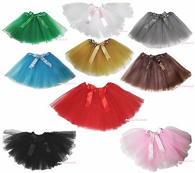Solid Color Fluffy Party Adult Novelty Dress Women Tulle Tutu Dance Ballet Skirt