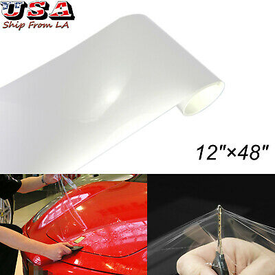 """12""""x48"""" Clear Car Bumper Hood Paint Protection Film Vinyl Decal Fit for Most Car"""