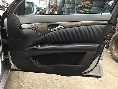 2005 Mercedes E Class W211 O/s Driver Side Front Avantgarde Door Card Leather