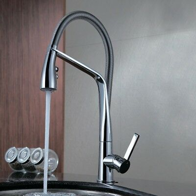 NEW Watermark solid brass chrome swivel pull out spring kitchen mixer tap WELS