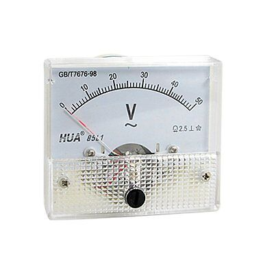 AC Analog Meter Panel 50V  Voltage Meter Voltmeters 85L1 0-50 V Gauge