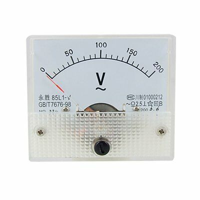 AC Analog Meter Panel 200V  Voltage Meter Voltmeters 85L1 0-200 V Gauge