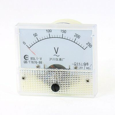 AC Analog Meter Panel 250V  Voltage Meter Voltmeters 85L1 0-250 V Gauge