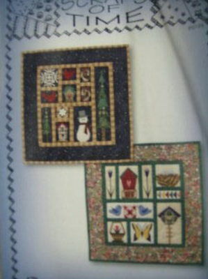 Spring From Winter Quilted Wall Hanging Pattern- Scraps of Time, 14.5 x 15 Inche