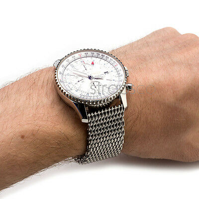 StrapsCo 4mm Thick Shark Mesh Stainless Steel Watch Band Strap